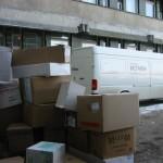 Donatie van medische materialen voor het ziekenhuis in Bacau