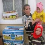 Levensmiddelen en schoolspullen voor deze familie
