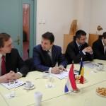 Voorbereiding van een actie met de burgemeester van Bacau en de voorzitter van het provinciebestuur